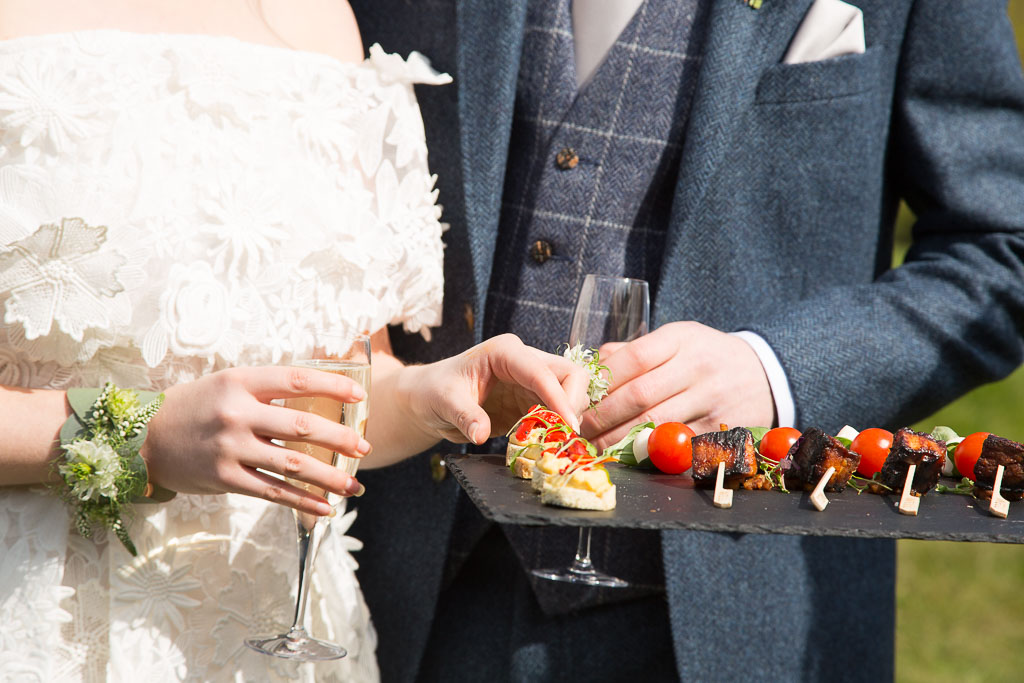 Champagne and Canapes - Outdoor Wedding