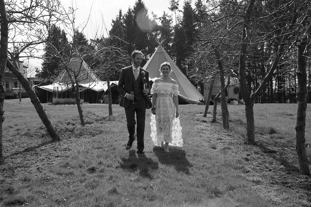 Tipi Wedding Black and White Photo Grounds