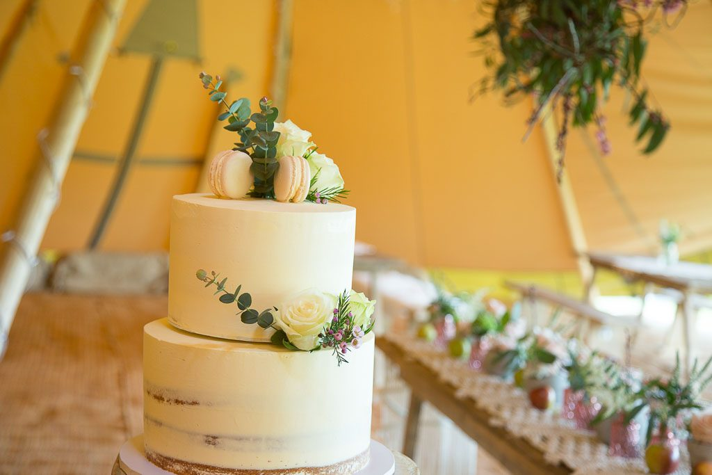 Unusual Tipi Wedding - Cake