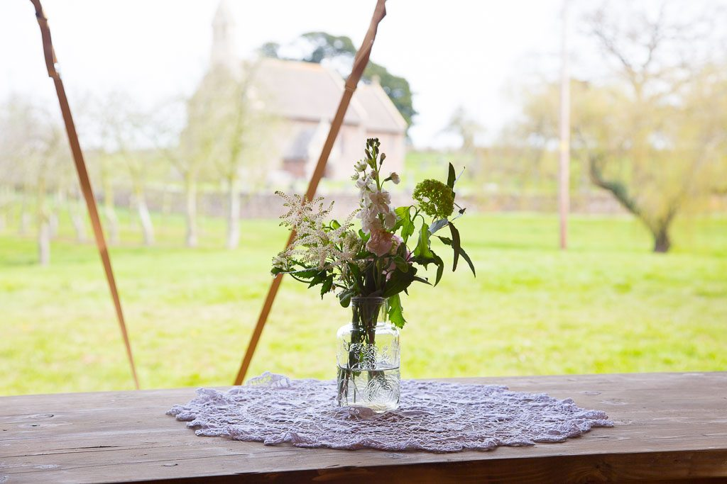 Tipi Wedding Table Centre