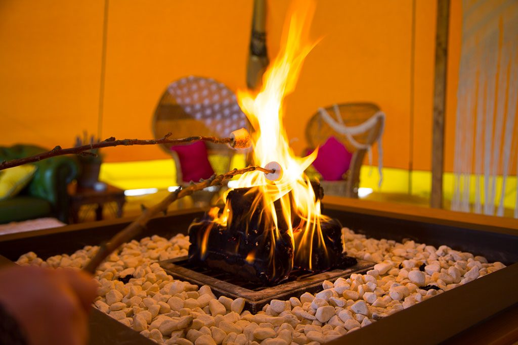 Tipi Wedding Firepit