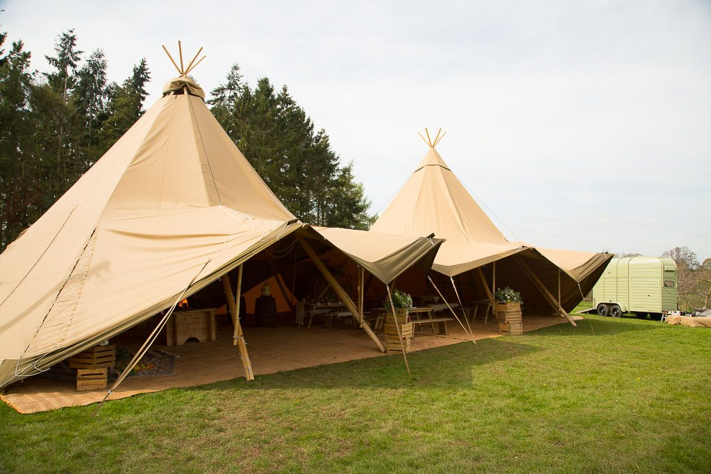Two Hat Tipi - Unusuals Wedding Venue