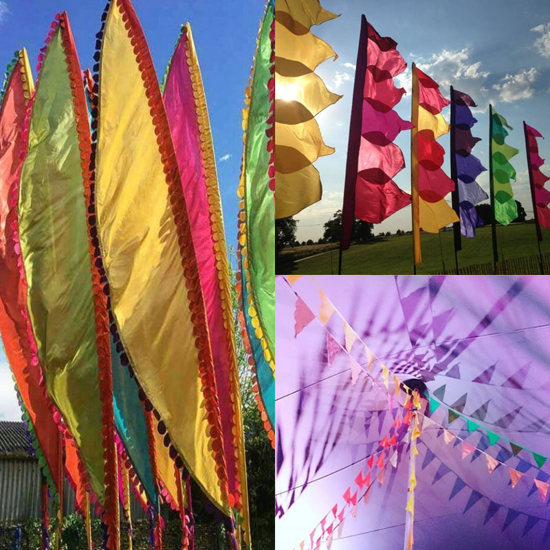 Event Flags for Tipi & Other Outdoor Wedding Venue