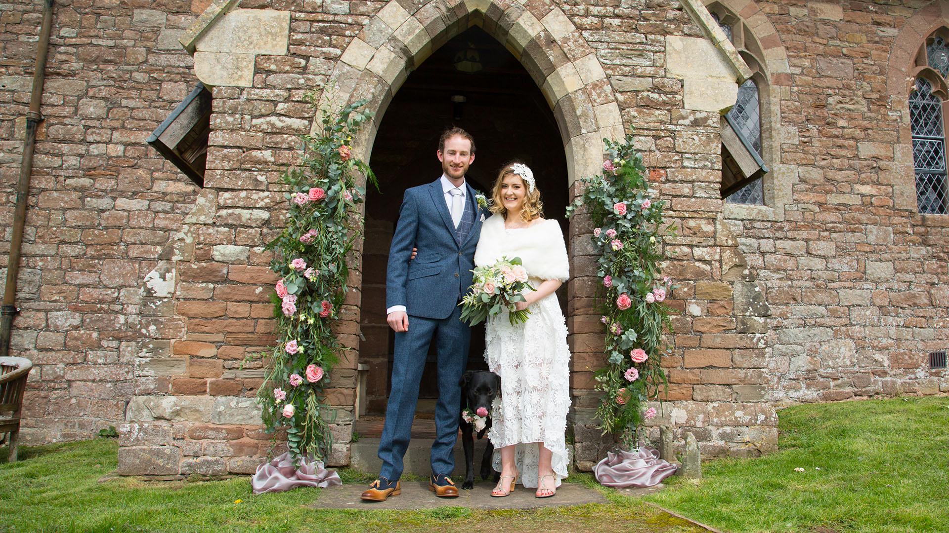 Wedding day at the Church at Munsley