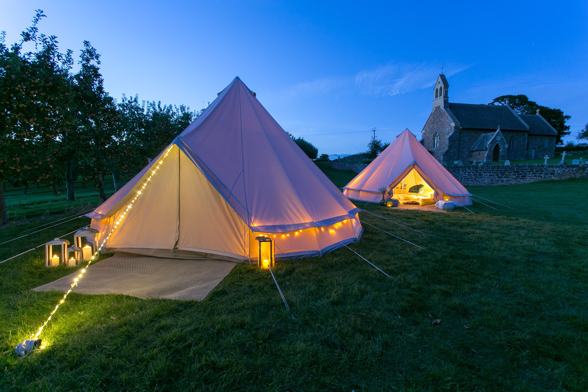 2 bell tents